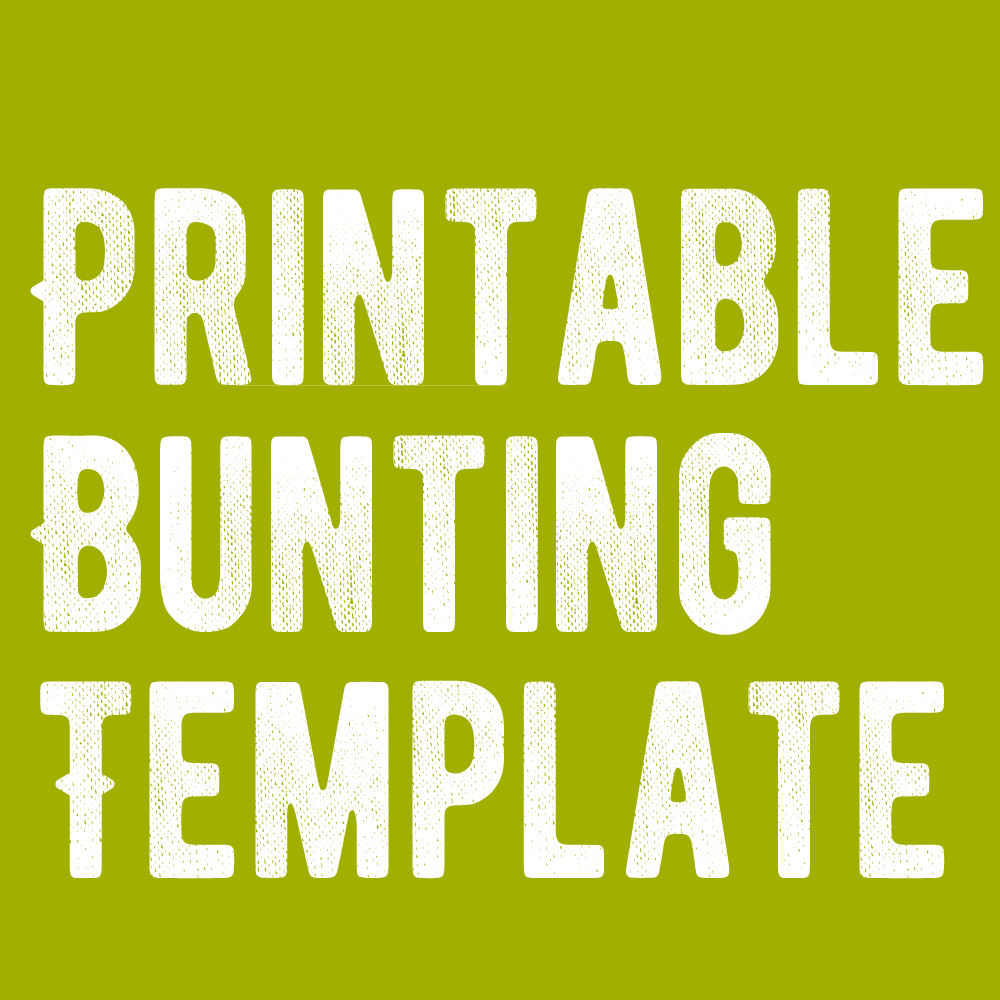 Free Blank Bunting Template Make Breaks