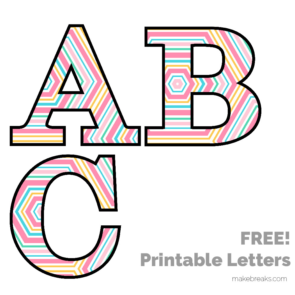 Portaoggetti Design Letters Numbers : Free printable letters numbers archives make breaks