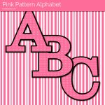 Pink Dot Free Printable Letters