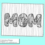 Free Mom Coloring Page
