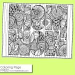 Free MOM WOW Coloring Page