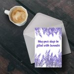 Free Printable Lavender Card