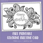 Free Printable Birthday Coloring Card