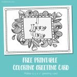 Free Printable I Love You Coloring Card