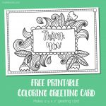 Free Printable Thank You Coloring Card