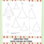 Christmas Tree Paper Piecing Patterns