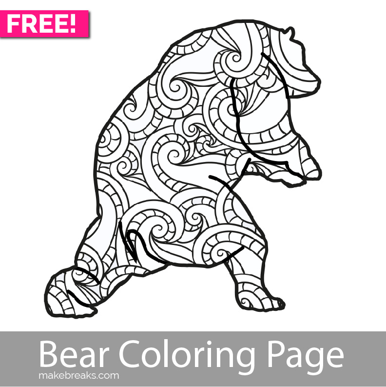 whimsical bear coloring pages - photo#2