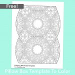 Free Pillow Box Template To Color