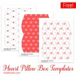 Free Valentine Pillow Box Templates