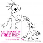 Little Monster Free Digital Stamp