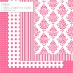 Pink Pattern Digital Paper Download
