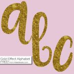Gold Foil Style Free Printable Letters