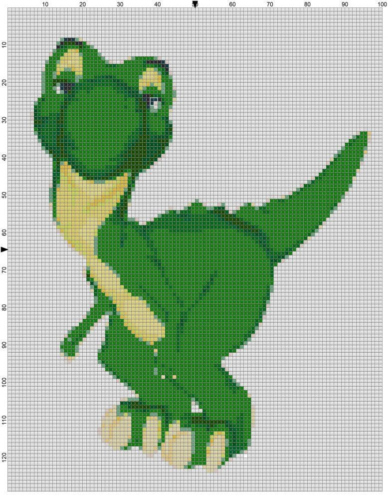 Free Cross Stitch Pattern T Rex Make Breaks