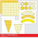Free Pineapple Party Printables Set 2