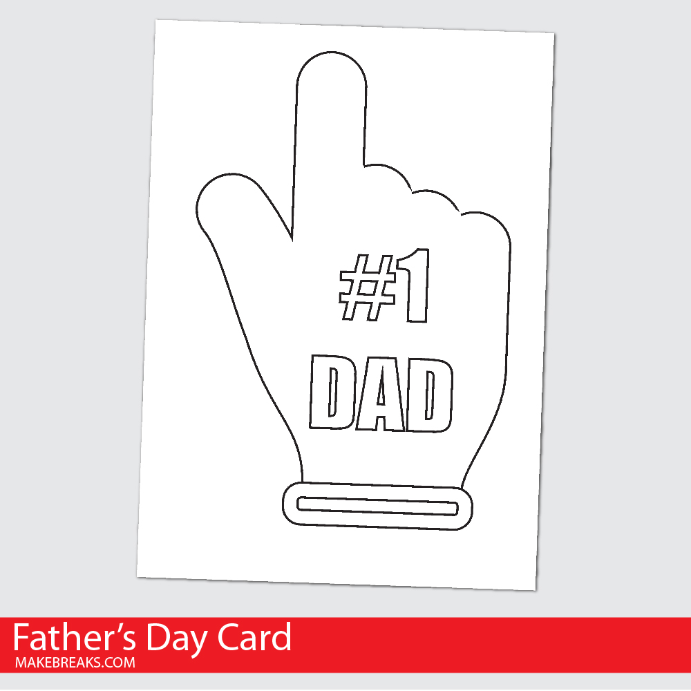 Free Printable Fathers Day Card To Color