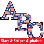 Stars and Stripes Free Printable Letters