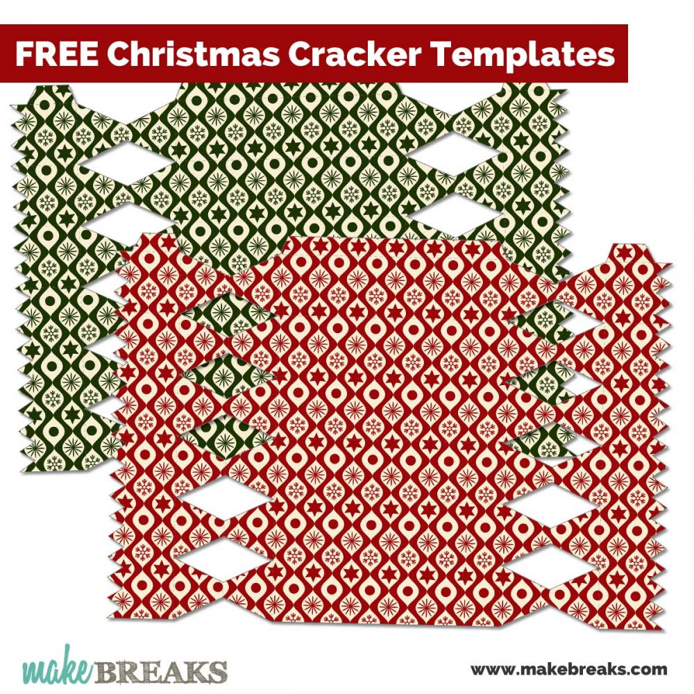 Free printables archives make breaks this is a fun way to make unique christmas crackers for the festive table the set contains two versions of the same design one in green and the other in solutioingenieria Image collections