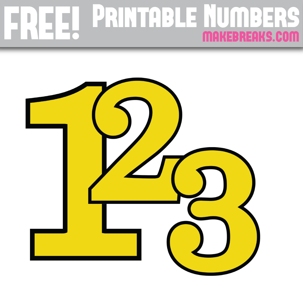 It is a photo of Free Printable Numbers pertaining to decorative