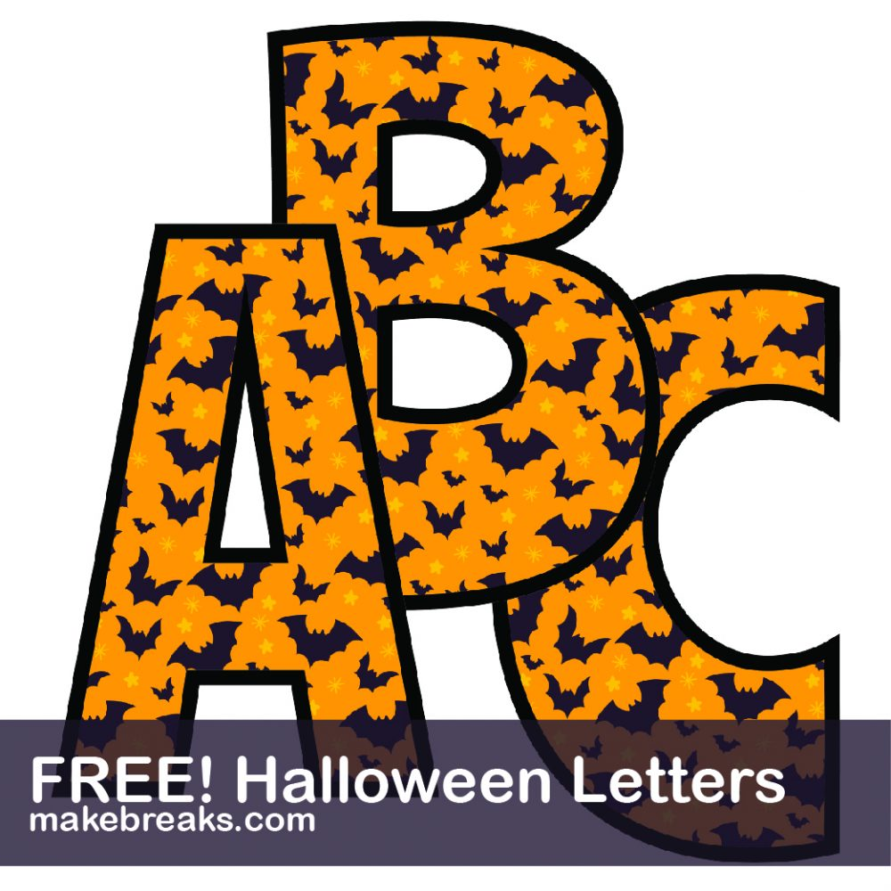 Peaceful image inside halloween letters printable
