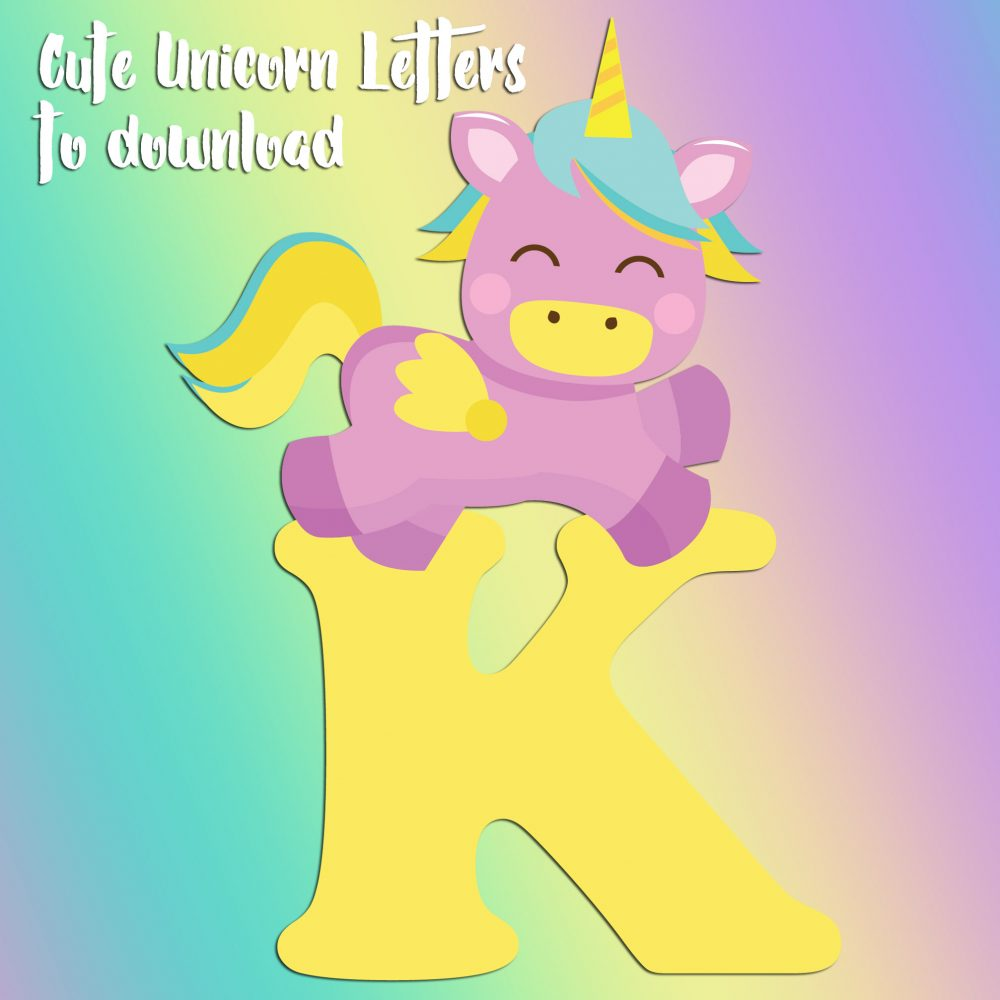 Free printable unicorn letters to print