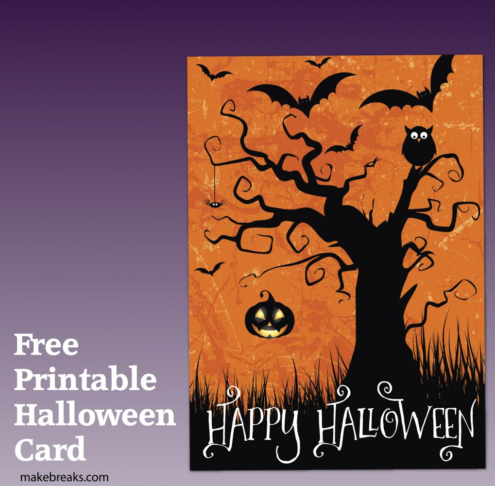 Free Printable Happy Halloween Card Or Party Invitation Make Breaks