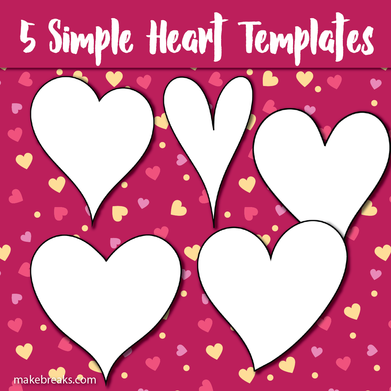 It is a photo of Free Printable Heart Templates regarding editable