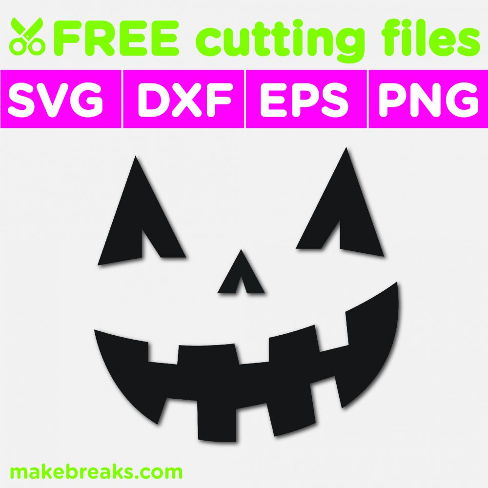 Free svg cutting file for Halloween with a Jack O Lantern face