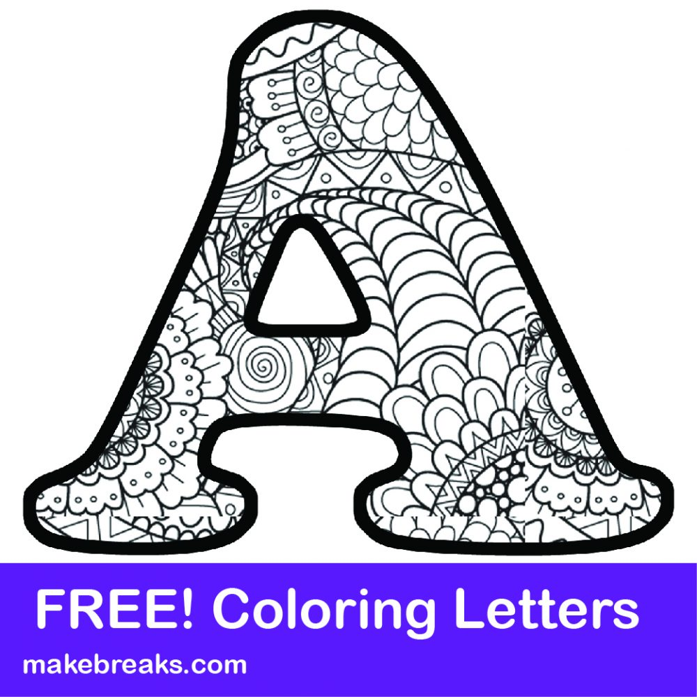 Printable letters of the alphabet