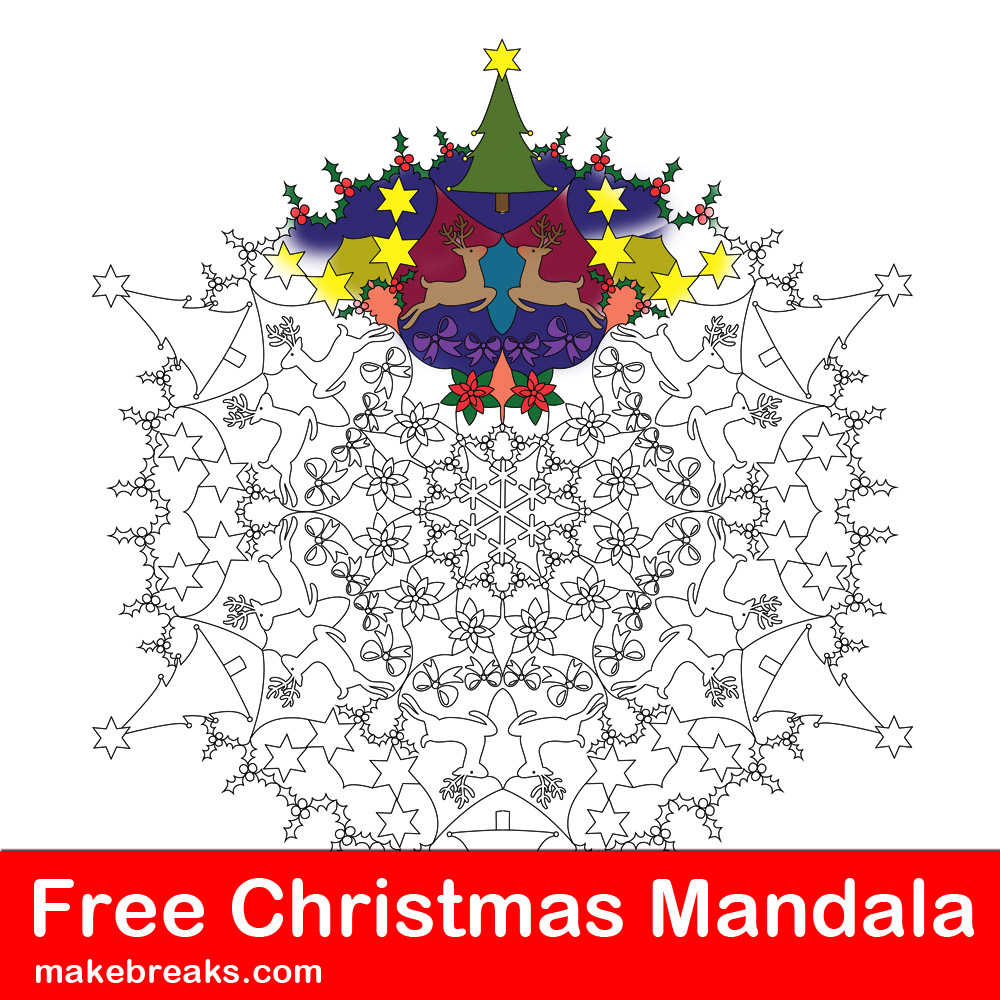 14 Mandala Christmas Mandala Coloring Pages Cool Coloring Page ... | 1000x1000