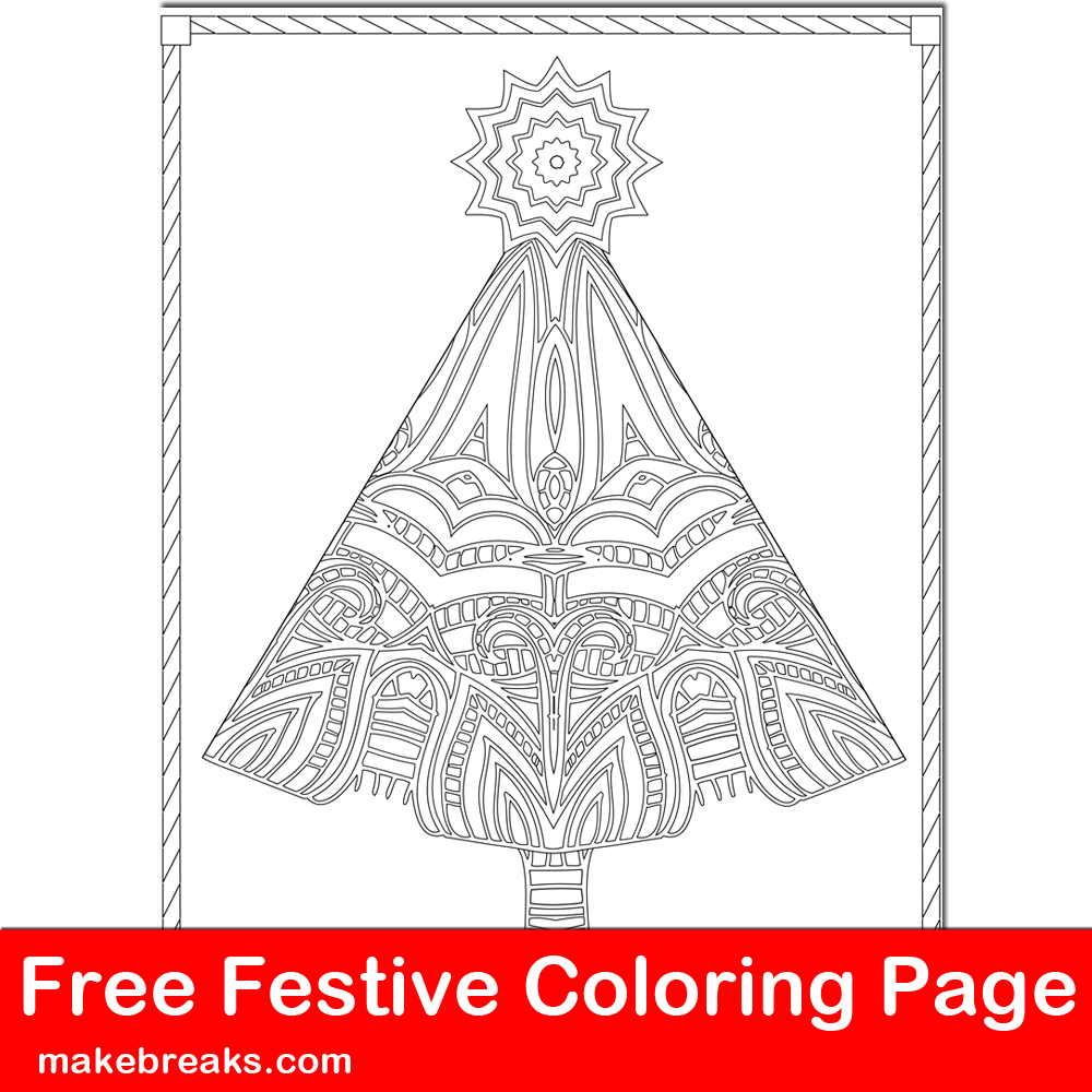 45 Free Christmas Coloring Pages For Adults (2017) | 1000x1000