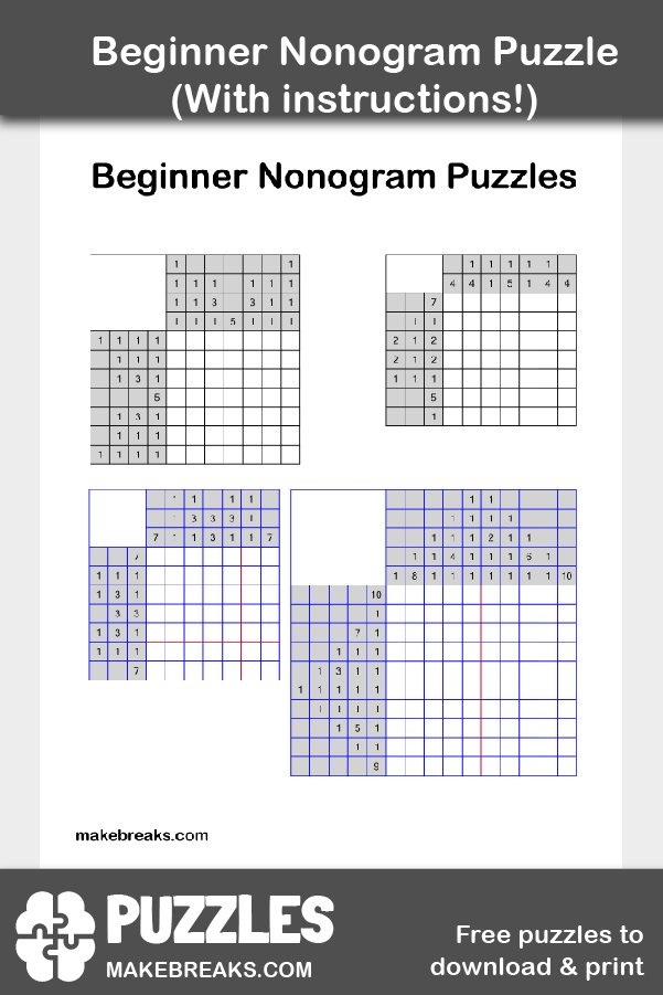 It is an image of Nonograms Printable in японские кроссворды